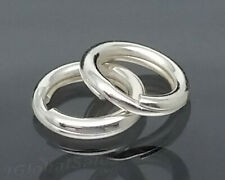 5 STRONG SOLID STERLING 925 SILVER 8MM SPLIT JUMP RINGS LINK CHARM TO BRACELET