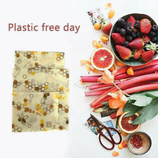 Beeswax Food Wraps Assorted 3 Pack Eco Friendly Reusable Plastic Free Storage _W