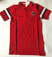 Brand New Givenchy Paris Red Polo T-Shirt Casual  4G GV 3 Jersey  Men's L
