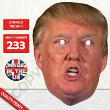 Donald Trump New 2 Celebrity Card Face Mask Fast Dispatch New