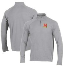 Maryland Terrapins Under Armour Charged Cotton Quarter-Zip Jacket - Heathered
