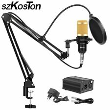 BM 800 Studio Microphone for Computer Karaoke Microphone with Mic Stand