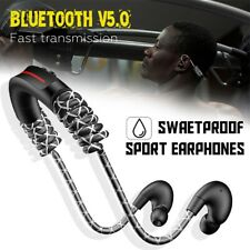 Bluetooth V5.0 Stereo Headset With Retractable Line Sports Neckband Earphones