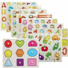 Wooden Puzzle Board Kids Children Learning Educational Jigsaw Montessori Toys