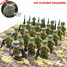 21pcs/set WW2 Allied Army Troops US Military Soldiers and Officer Fit LEGO