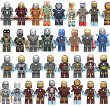Custom Iron Man Mark 1-49+ Minifigure Avengers Fits Lego Building Blocks