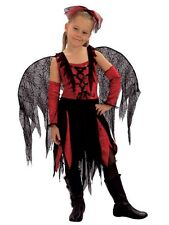 GOTH SPIDER FAIRY CHILD FANCY DRESS COSTUME ALL SIZES