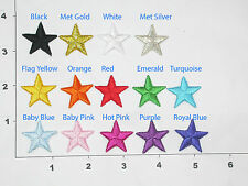 "Iron On Star Appliques 1"" 25 Pack - Color Options"