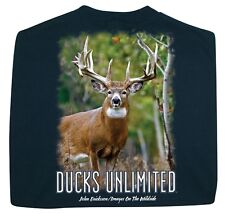 Ducks Unlimited T-Shirt Deer in Pine Whitetail Buck NWT