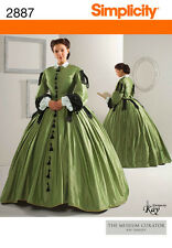 PATTERN SIMPLICITY 2887 Civil War Dress Skirt Victorian
