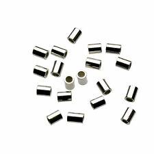 Sterling Silver 1.5x2mm Crimp Tube Beads 1.5mm x 2mm