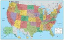 Rand McNally Style United States USA-US Large Wall Map Poster