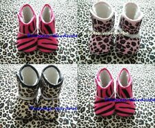 Lot 3 Animal Print Newborn Baby Infant Shoes Boot 6-24M