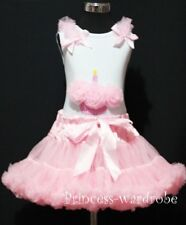 Light Pink Pettiskirt Tutu & Birthday Cupcake Top 1-8Y