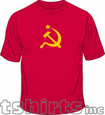 Hammer & Sickle Star CCCP Soviet Mens Loose Fit Cotton T-Shirt