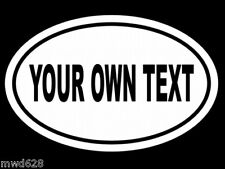 CUSTOM OVAL (YOUR OWN TEXT) WALL DECAL WINDOW DECALS