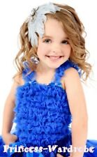 Royal Blue Ruffle Pettitop Tank Top For Pettiskirt 1-8Y