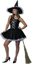 Sweet Witch Black Pink Dress Sexy Teen Adult Costume