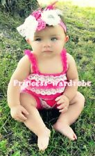 Newborn Baby Double Pinks Lace Petti Romper Strap NB-3Y