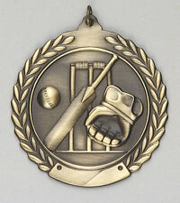 "2-3/4"" MS Cricket Medals w/Ribbon Any Qty Ships Flat Rate $5.49 in USA"