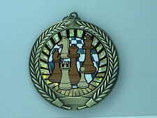 "2-3/4"" SUN Chess Medal w/Ribbon Any Qty Ships Flat Rate $5.49 in USA"