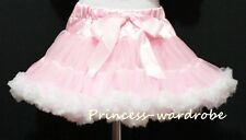 Light Pink White FULL Pettiskirt Skirt Petti Party Dance Tutu Dress Girl 1-8Y