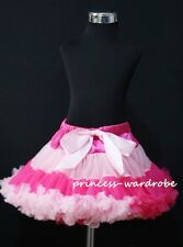 Hot Light Pink Multi-Colored FULL Pettiskirt Skirt Dance Tutu Dress Girl 1-8Y