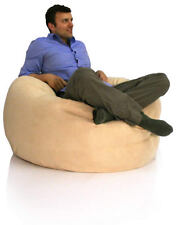 Faux Suede Retro Bean Bag! X-LARGE  - NEXT-DAY-DELIVERY