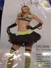 5 Pc Daisy Bee Bumble Insect Animal Leg Avenue Cute Sexy Adult Halloween Costume