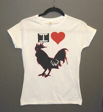 I LOVE BROCK THE COCK Juniors Baby Tee WARDANCE TRAINING T-SHIRT Rooster Bird