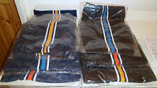 SHORTS BOYS SPORTS NAVY BLACK COLOURED STRIPE TRIM 2- 3 yrs 3- 4 yrs and 13 yrs