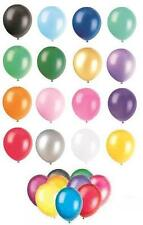"8 x 12"" Pearlised/Metallic Latex Balloons (Party) ALL COLOURS"
