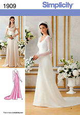 Simplicity 1909 Classic Lined Wedding & Bridesmaids Gown Pattern 6-14 or 14-22