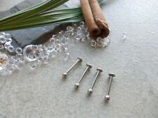 CHOOSE BAR LENGTH & THICKNESS ,5 X SURGICAL STEEL LIP/TRAGUS BARS,6,8,10,12MM