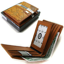 New Designs NEW Brown Luxury Men's Wallet ID Credit Wallet