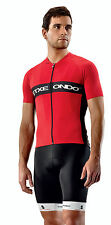 Gizon Short Sleeve CYCLING Jersey in Red. Made by Etxeondo in Spain.