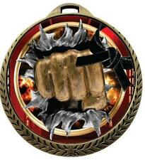 Burst Martial Arts Medals w/Ribbon Any Qty Ships in USA $5.49