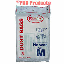 Hoover Type M Dimension Canister Vacuum Cleaner Bags 4010037M Model #S3273 S3275