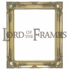 """3"""" Gold Shabby Chic Decorative Ornate Wood Swept Large Picture Frame 20x30"""""""