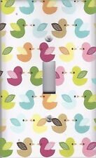 Light Switch Plate Switchplate & Outlet Covers BATHROOM ~ CUTE COLORFUL DUCKS