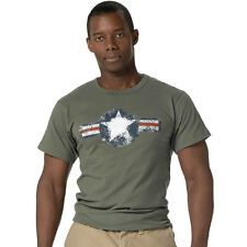 Army Air Force Olive Drab Vintage Cool Retro T-Shirt  - FREE SIPPING
