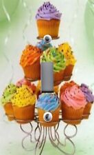 Light Switch Plate Switchplate & Outlet Covers ~ FUN & COLORFUL CUPCAKES MUFFINS
