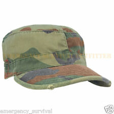 Vintage Distressed Woodland Camouflage Partrol Ball Cap Hat