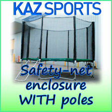 SAFETY-NET ENCLOSURE / SURROUND FOR TRAMPOLINE WITH POLES AND FIXINGS