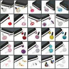 ANTI DUST CHARMS FOR MOBLIE PHONE/IPHONE 3.5MM PLUG HUGE CHOICE CRYSTALS/COLOURS