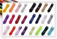 Annie's Handmade High Quality Italy Plain Satin Solid Wedding/Party Men Neck Tie