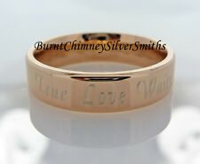 Personalized True Love Waits Promise Ring Rose Gold-Stainless Steel BCSS-R082