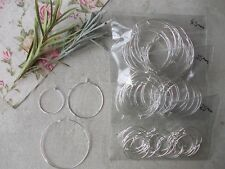 20 X CHOOSE SIZE 25mm,35mm,45mm, HOOPS FOR EARRINGS, WINE GLASS/BOTTLE CHARMS