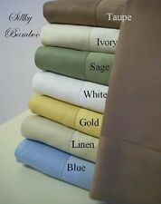 Rayon from BAMBOO Sheet Set 100% Silky bamboo Luxury Bed sheets- All Size