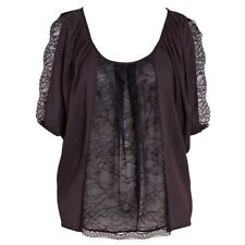 new RRP $80 PORTMANS LACE EVENING BLOUSE TOP BLACK